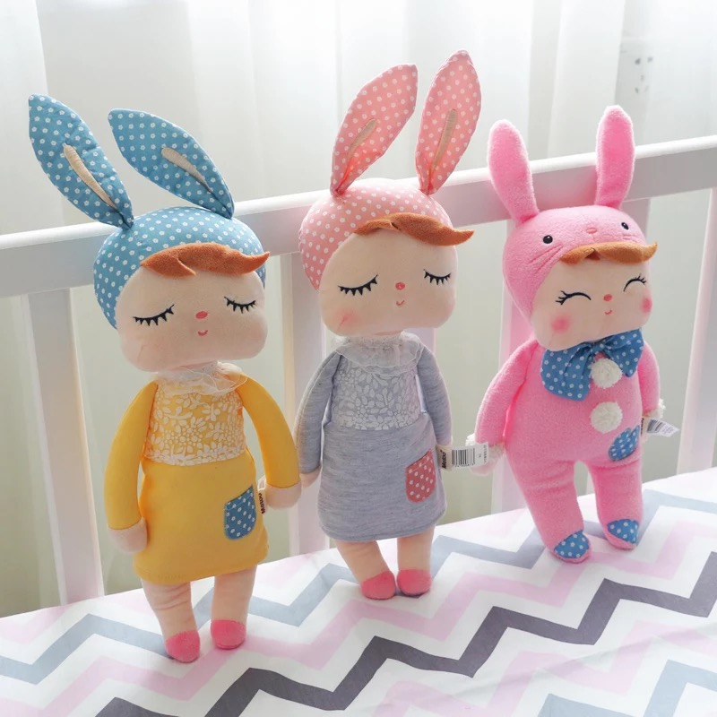 Ins Hot 15 Baby Kids Cute Sleeping Comfort Dolls Soft Plush Toy On Bed For Baby Children Christmas Gift