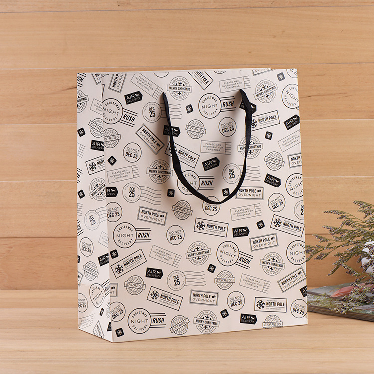 best wish 30*40*8cm  beautiful  paper bag with  handle gift packaging wedding birthday candy hold 25 33 8cm kraft paper gift bag festival paper bag with handles fashionable jewellery bags wedding birthday party