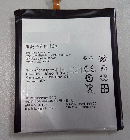 Original battery For  PHILIPS I908 CTI908 cellphone  AB3000CWMC for Xenium  Mobile phone batterie bateria