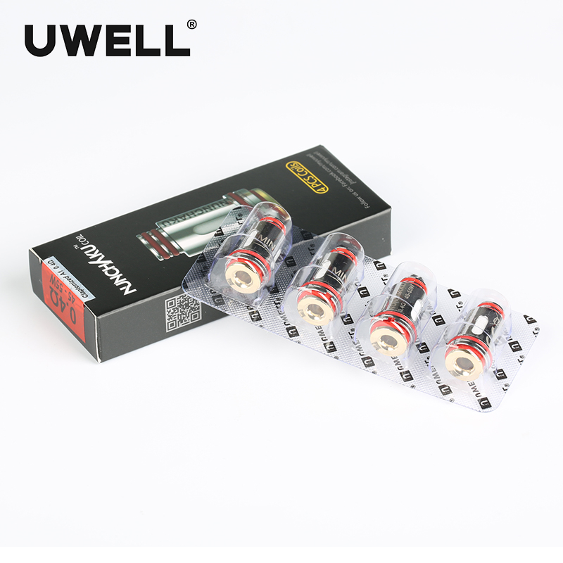 ¡Venta caliente! UWELL 4 unids/pack NUNCHAKU reemplazo del tanque bobinas 0,25/0,4 ohm atomizador cigarrillo electrónico Accesorios