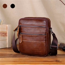 лучшая цена 2L Men Genuine Leather Casual Shoulder Bag Business Handsome Messenger Briefcase Crossbody Messenger Handbag Outdoor Travel
