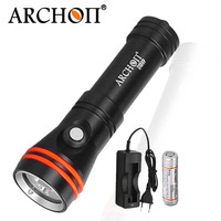 Diving Flashlight ARCHON D15VP 100M Diver Diving Video Light White Red * LED Torch 1300 Lumens Underwater Light 18650 Battery