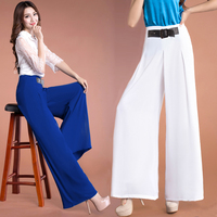 high waist chiffon culottes pants horn wide leg pants pants dance pants female trousers Belly Dance Casual Boho Wide Trousers