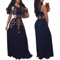 Vintage Lace Patchwork Strapless V Neck Maxi Dress Floral Print Cut Waist Backless Crop Top Long Bohemian Dresses Vestido Longo