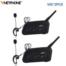 2pcs Vnetphone V6C 전문 축구 심판 인터폰 전이중 1200M 심판 헤드셋 무선 BT 인터폰 인터폰