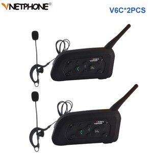 Image 1 - 2pcs Vnetphone V6C Professional Football Referee Intercom full duplex 1200M Referees headset Wireless BT Intercom Interphone