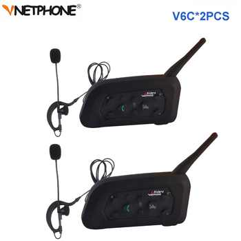 2pcs Vnetphone V6C Professional Football Referee Intercom full duplex 1200M Referees headset Wireless BT Intercom Interphone - Category 🛒 Automobiles & Motorcycles