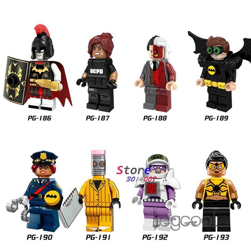 1 piezas modelo bloque superhéroe Batman Barbara Gordon dos cara Robin goma hombre de araña-chica juguete regalo de los niños