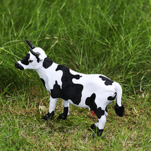 Cute Mini Simulation Cow Cattle Plush Toy Activity gifts Stuffed Doll Birthday Gift Supermarket restaurant decorations