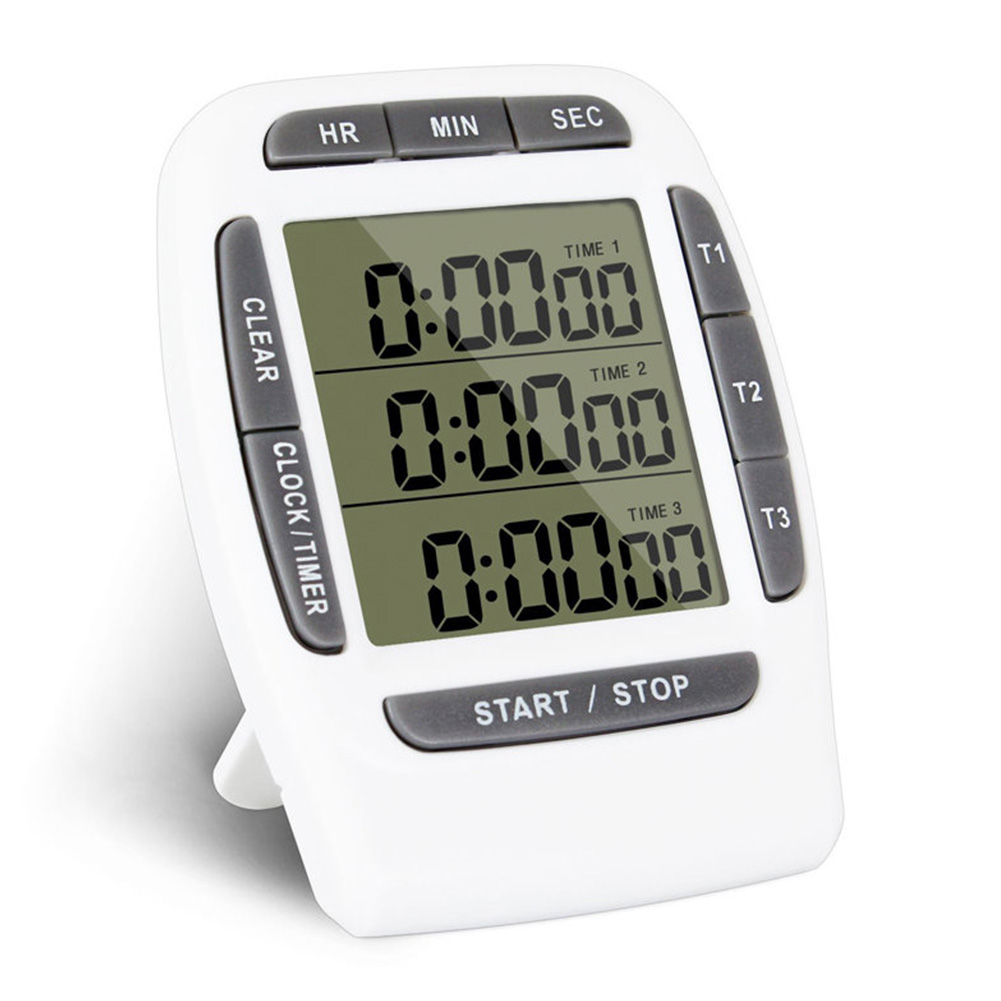 Multifunction Kitchen Timer 3 Display Channels font b Electronic b font Countdown Function Timer
