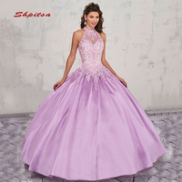 Ball Gown Princess Quinceanera Dresses Girls Satin Masquerade Prom Sweet 16 Dresses Ball Gowns vestido de 15 anos baile