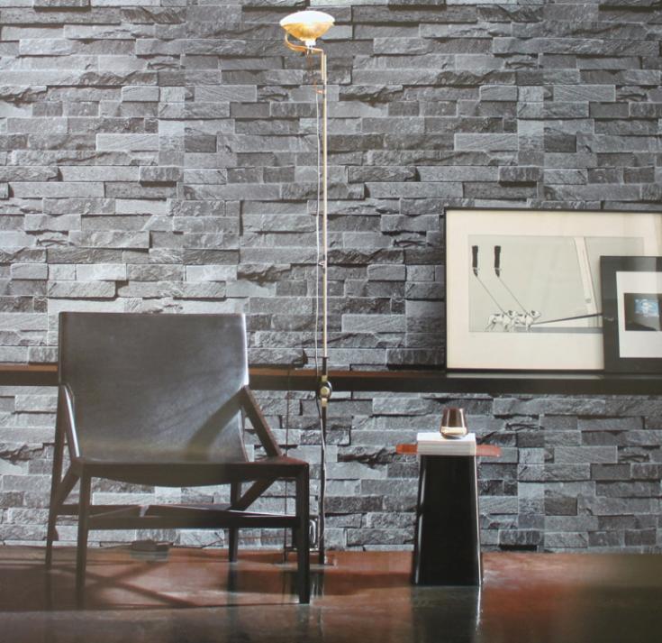 2014 simulatie 3d grijs bruin steen baksteen patroon achtergrond, Deco ideeën