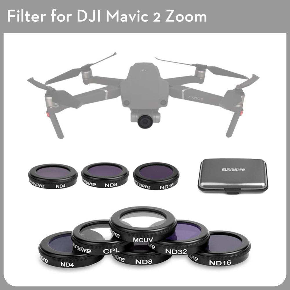 DJI Mavic 2 Pro Drone caméra objectif filtres Set MCUV/CPL/ND4/8/16/32 pour Mavic 2 Pro caméra Drone accessoire filtre