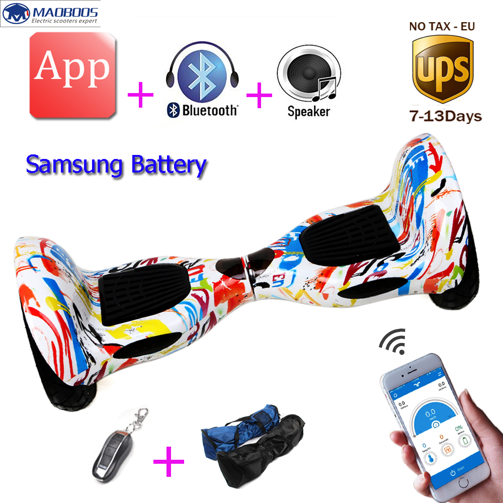 Self Balancing hoverboard 10inch unicycle Smart balance Samsung Battery APP 2 wheels electric Skateboard stand up scooter  tax free hoverboard samsung battery smart self balancing electric scooter balance skateboard standing drift hoverboard