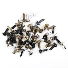 100 шт смешанные круглые металлические шипы с шипами для скрапбукинга, украшения, застежка, рукоделие, штифт, украшение 5x10 мм