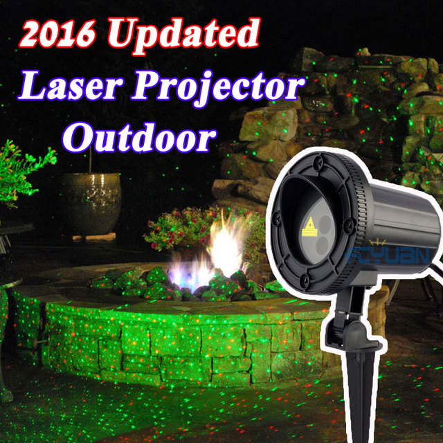 outdoor holiday light projector ip65 waterproof laser christmas lights show home garden decoration red green color