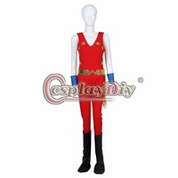 Cosplaydiy The New Adventures of Wonder Outfit Superhero Wonder Women Cosplay Costume Halloween Carnival Budysuit Custom Made