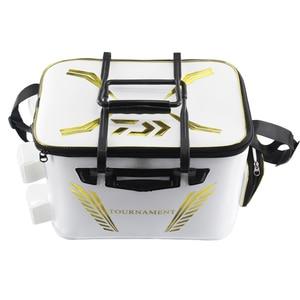 Image 1 - 2018 New DAIWA DAWA Bait Bucket Light Outdoor Multi functional Bait Box Bait Bag Portable Outdoor Fishing Pail 40CM 45CM