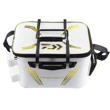 2018 nova daiwa dawa isca balde de luz ao ar livre multi funcional caixa isca saco portátil ao ar livre balde de pesca 40 cm 45 cm