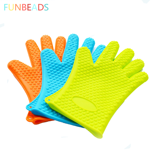 50pcs Lot Home Kitchen Gloves Silicone Oven Heat Resistant Temperature St002