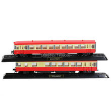 EDITIONS ATLAS 1 87 Diecast Model Train Toys Collections XBD 4506 XRAB 8615 set 2PCS Red