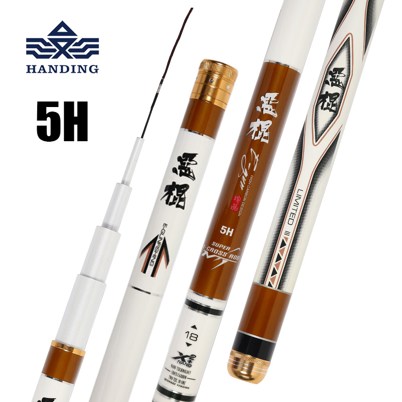 Handing 5H high carbon fiber telescopic fishing rod Ultra Light Carp Fishing rod Tanwan fishing Rod stream/sea pesca fishing rod high quality ultra light portable high carbon cloth sea fishing rod dual use bait cast carp ice fishing rod