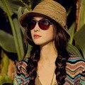 2017 novo chapéu de sol ocasional chapéus de Verão para As Mulheres das Senhoras Dobrável ampla Grande Brim Floppy Praia Chapéu de Sol Cap Chapéu de Palha Das Mulheres
