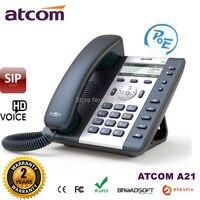 ATCOM A21 POE 2 линия SIP входной уровень бизнес IP телефон двухъядерный процессор, HD voice, подсветка lcd настольный офис VoIP телефон