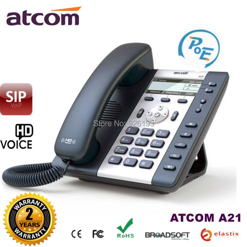 Atcom A21 poe 2 SIP линии начального уровня бизнес <font><b>ip</b></font>-телефон двухъядерный Процессор, HD Voice, Подсветка ЖК-дисплей office desktop <font><b>voip</b></font> телефон