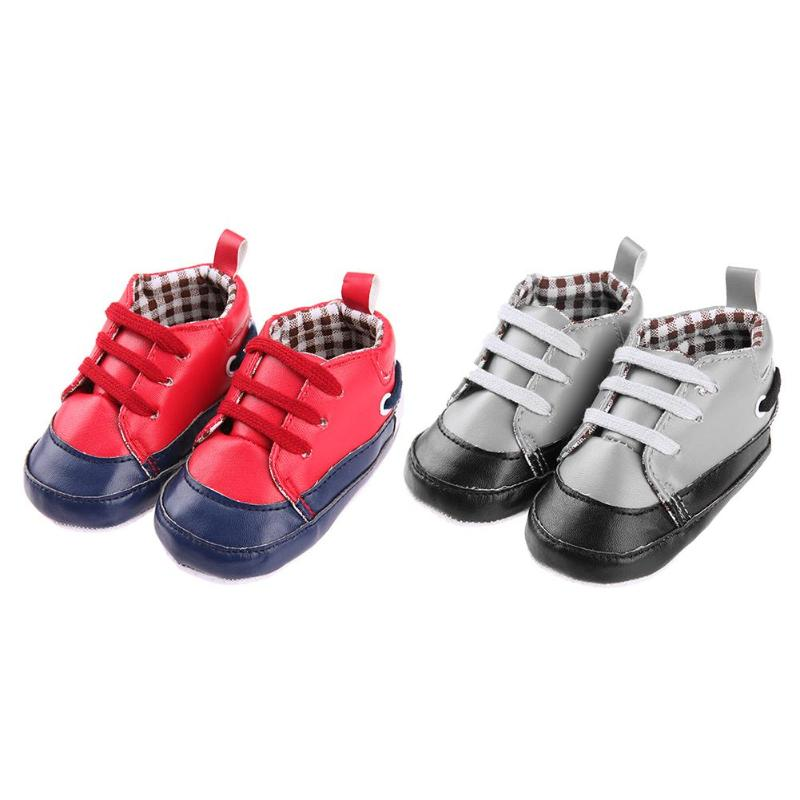 Fashion Style Baby Prewalker Shoes Infant Soft Anti-Slip Sports Splicing Color Breathable Shoes Keep Warm Shoes for Girls Boys