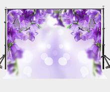 7x5ft Bright Sunny Day Backdrop Hanging Ultra Violet Color Flowers Photography Background Outdoor Photo Props