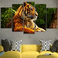 5D Diy Diamond Embroidery Paintings Rhinestone full square Diamond Painting Cross Stitch Tiger Mosaic 5PCS Multi picture decor