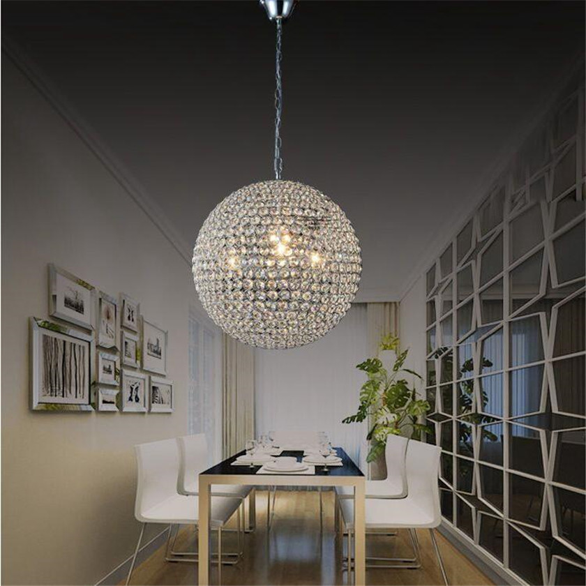 LED Ball Pendant Lights Crystal Pendant Lamp Lustres Hanglamp Fixtures Lamparas Colgantes Abajur Luminaires for Dining Room E27 modern led pendant lights for kitchen dining room home lighting lamparas colgantes lustre hanglamp pendant lamp light fixtures