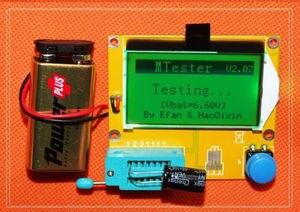 LC-T4 medidor de esr mega328 transistor tester diodo triode capacitância lcr mos pnp mosfet 12864 lcd