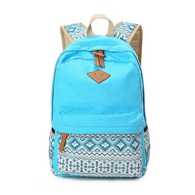 Vintage Girls School Bags for Teenagers girl Schoolbag Canvas Bag women travel bags printing School Backpack Rucksack Bagpack