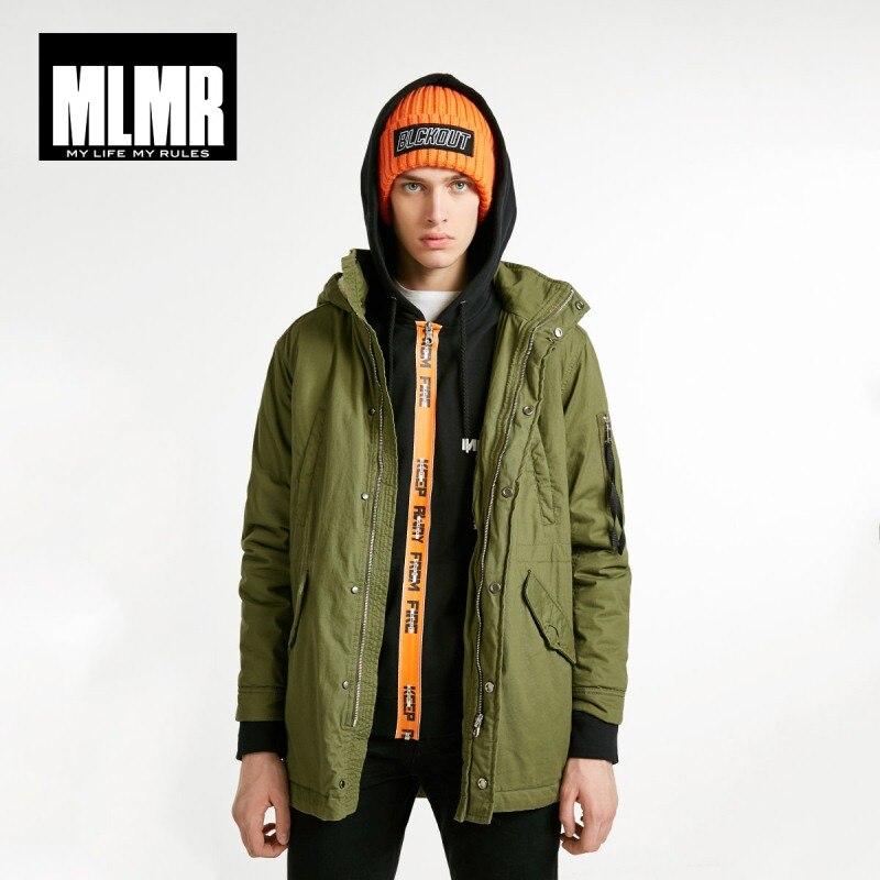 JackJones Men's Fashion Hooded Parka Coat Padded Long Jacket Basic Coat Menswear 218309528