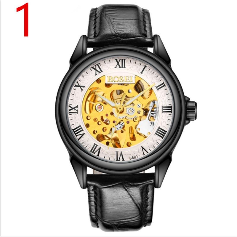 2018 new watch men's mechanical watch men's watch brand automatic waterproof leather student fashion tide цена и фото