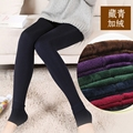 Autumn and winter high waist plus thick velvet leggings was thin female outer wear one step foot warm pants stretch pants home