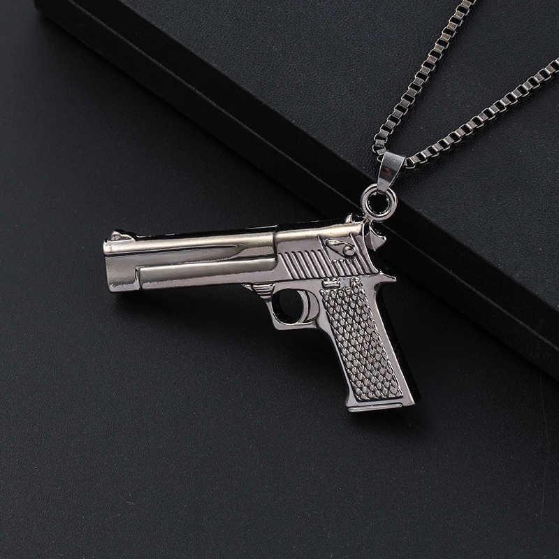 440e28e977d1 Новинка STG игра Playerunknown s Battlegrounds gun ожерелье оружие Модель  звено цепи кулон ожерелье для мужчин хип