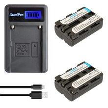 DuraPro 2Pcs 1800mAh NP-FM500h Battery +LCD USB Charger for Sony Alpha A57 A58 A65 A77 A99 A350 A450 A500 A550 A700 A850 A900