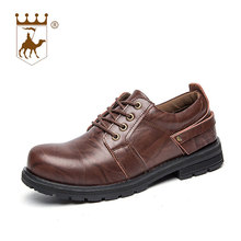 hot deal buy backcamel genuine leather men's shoes casual men work shoes british style round head footwear wear-resistant leisures size 38-44