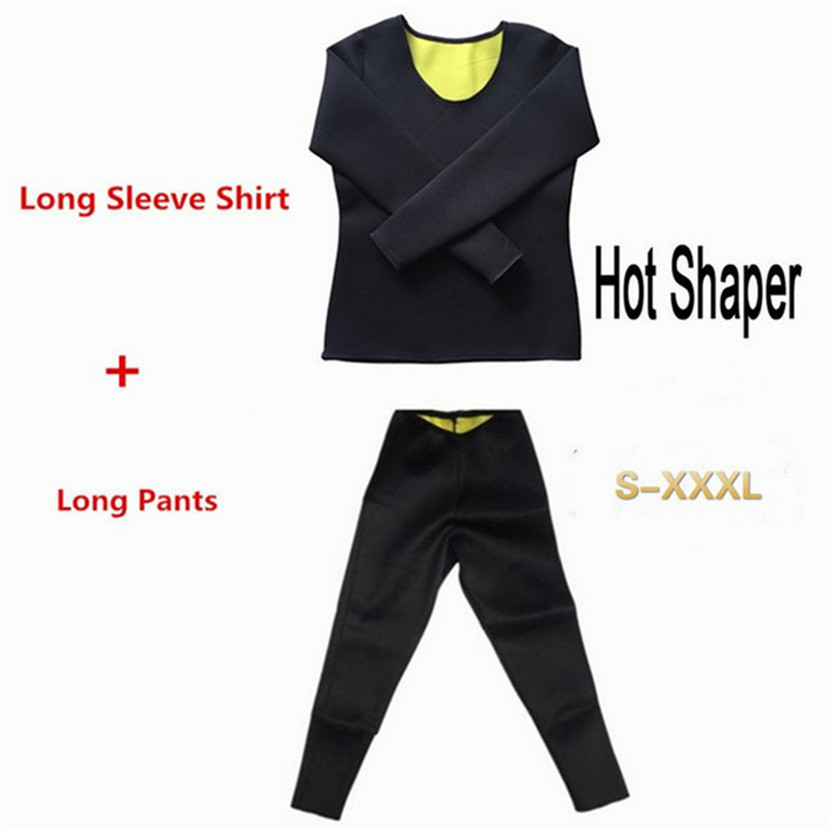 Hot Slimming Shaper Pants Neoprene Slim Fat Burning Weight Loss Natural Waist Trainer Neoprene Detox Workout Body Shapers Shirt