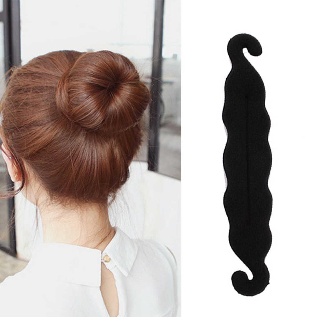 1 шт. Для женщин волшебный Поролоновый спонж Hairdisk устройство для волос Donut Быстрый грязные булочка Женская прическа, модный аксессуар для волос зажим, аксессуар для волос Инструменты для укладки волос