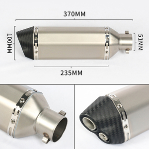 Image 2 - 4 Color 38~51MM Universal Motorcycle Exhaust Muffler With AK Sticker Stainless Steel For Dirt Bike Street Bike Scooter