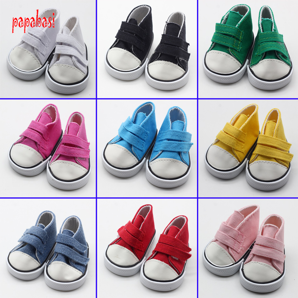 American Girl Doll Shoes Fits 18 inch Doll 43CM zapf baby born Dolls sneacker Reborn Baby Doll sport shoes