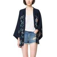 Harajuku Autumn Women Blouses Japanese Kimono Phoenix Printed Bat Sleeve Loose Cardigan Sun Protection Blouse