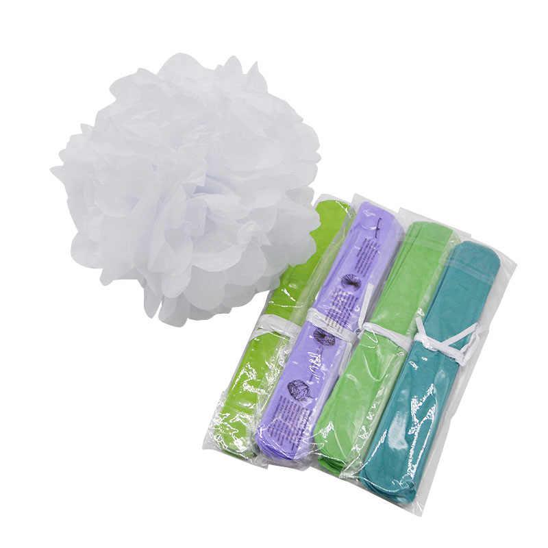 1pc 4-12 polegada papel de tecido pompom pom pompons decoração do casamento diy papel flor bolas chá de fraldas festa de aniversário artesanato suprimentos