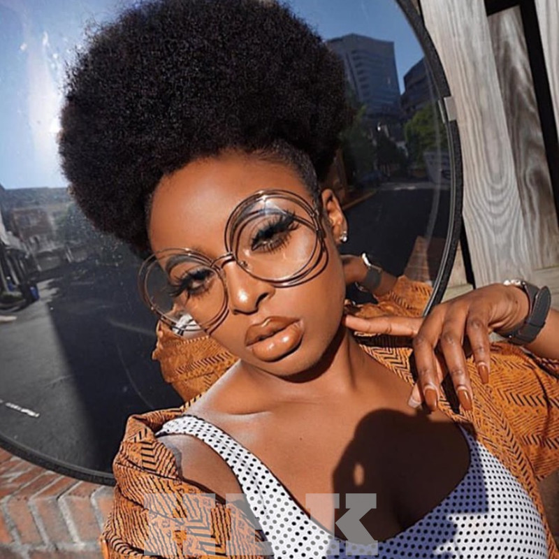 HBK Oversized Round Sunglasses Gold Clear Women Large Size Big Retro Mirror Sun Glasses Lady Female Vintage Brand Designer 2018