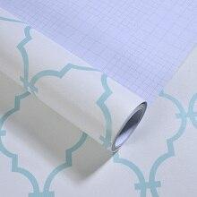 Nordic Elegant Geometric Grid Wallpapers Peel and Stick Wallpaper Roll Blue Living Room Decoration Furniture Wall Paper EZ029