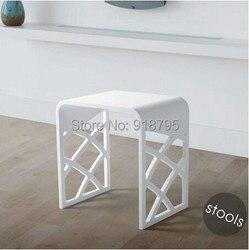 الصلبة سطح الحجر صغيرة الحمام خطوة البراز مقاعد البدلاء كرسي الحمام البخار دش البراز 16x12 بوصة RS111
